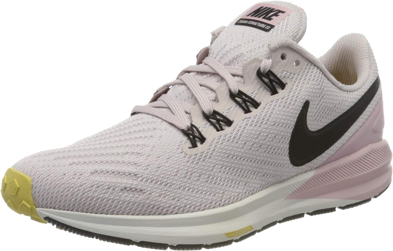 Nike W Air Zoom Structure 22, Zapatillas para Correr para Mujer, Platinum Violet Black Plum Chalk, 37.5 EU