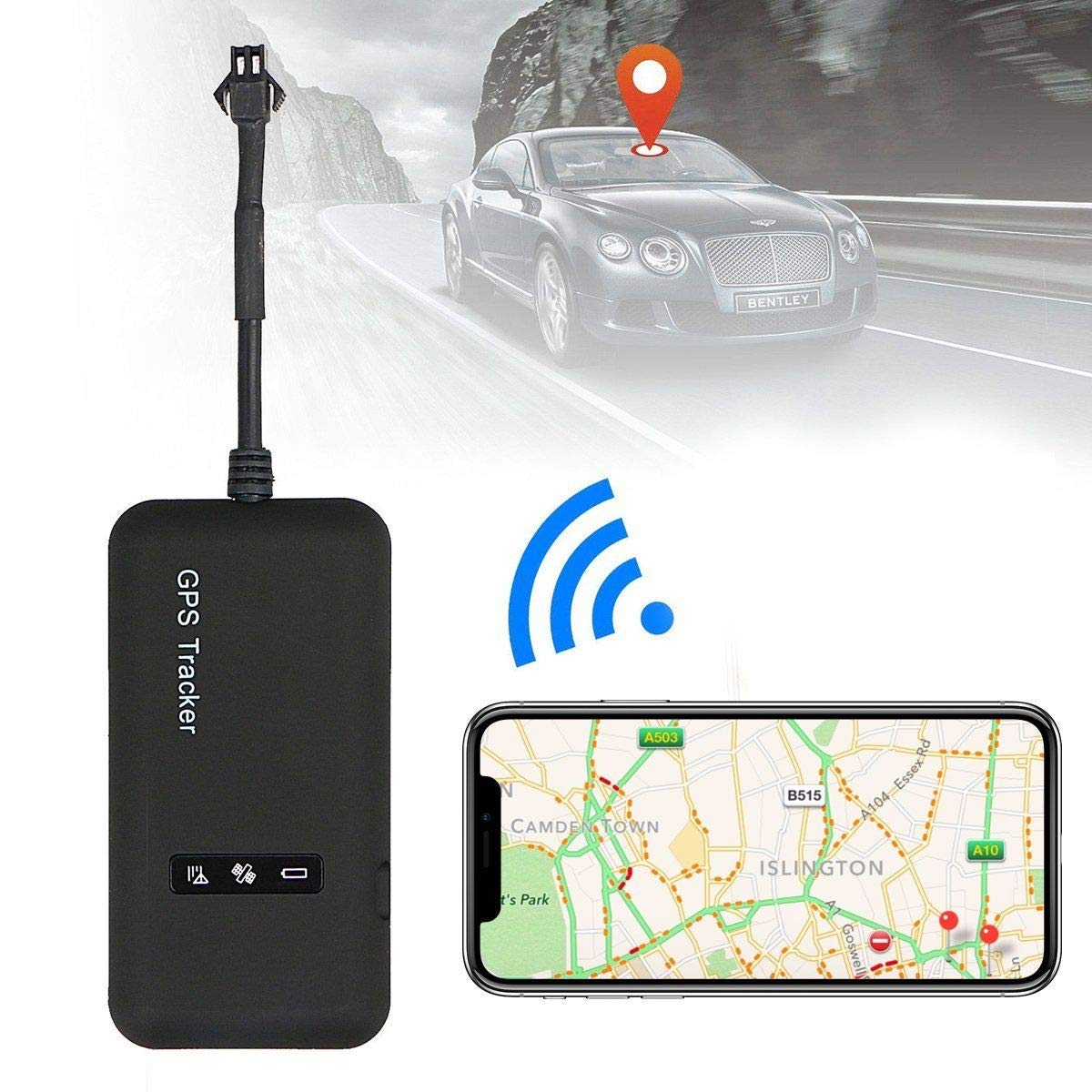 Likorlove Vehicle Car Gps Tracker Tracking Device Mini Gsm Gprs Sms Land Rover 90 Fuse Box Locator Global Real Time For Auto Motorcycle Bycicle Scooter 25 46