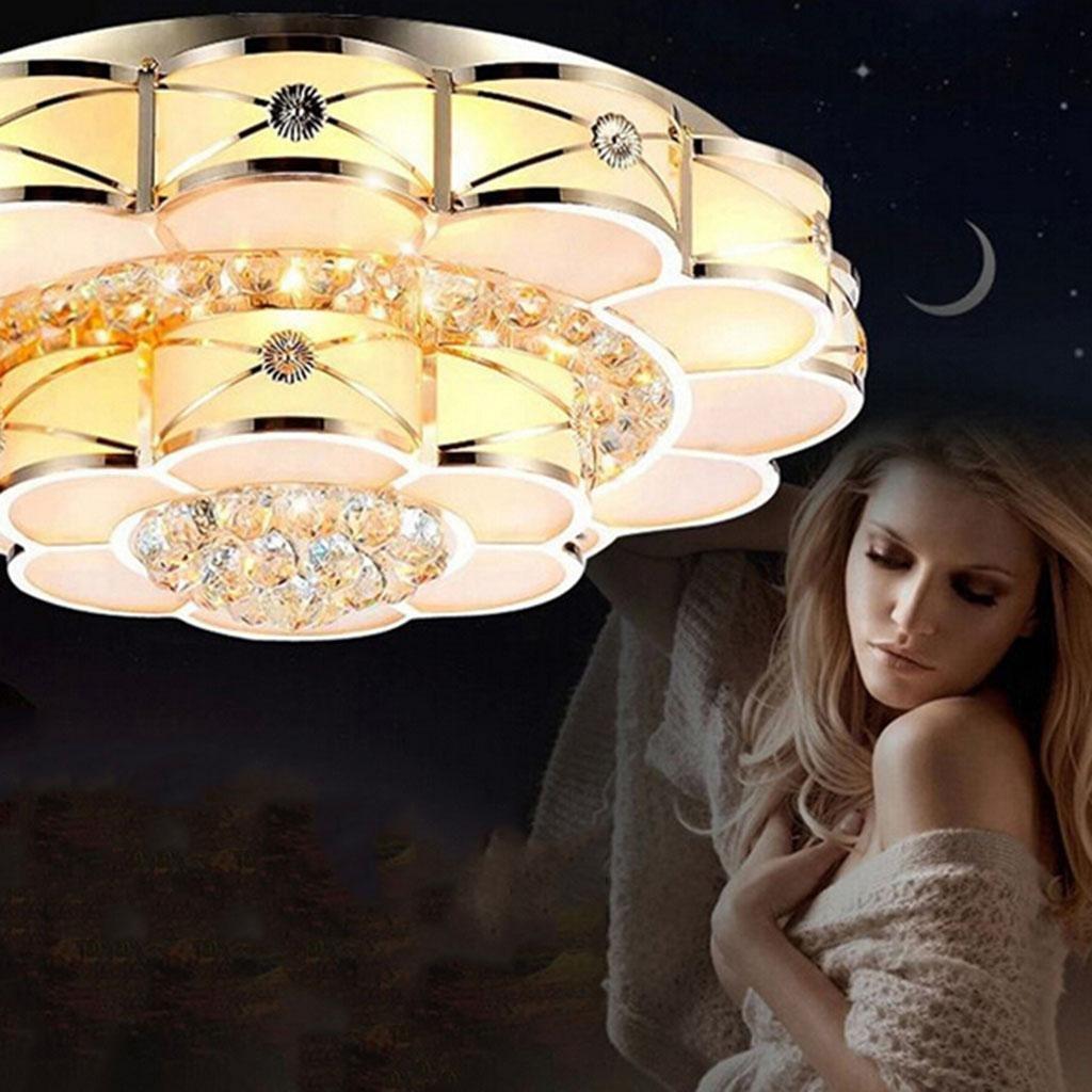 Kim S moderne Wohnraumbeleuchtung LED-Decke Europäischen Pflaume Einzelkristall-Lampe Wohnzimmer Schlafzimmer Crystal Light