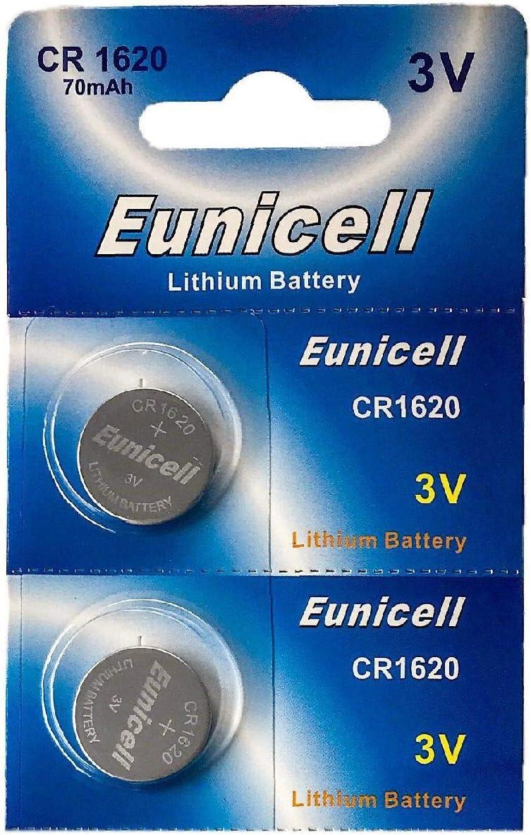 Eunicell 2 X Cr1620 3v Lithium Knopfzelle 70 Mah 1 Blistercard A 2 Batterien