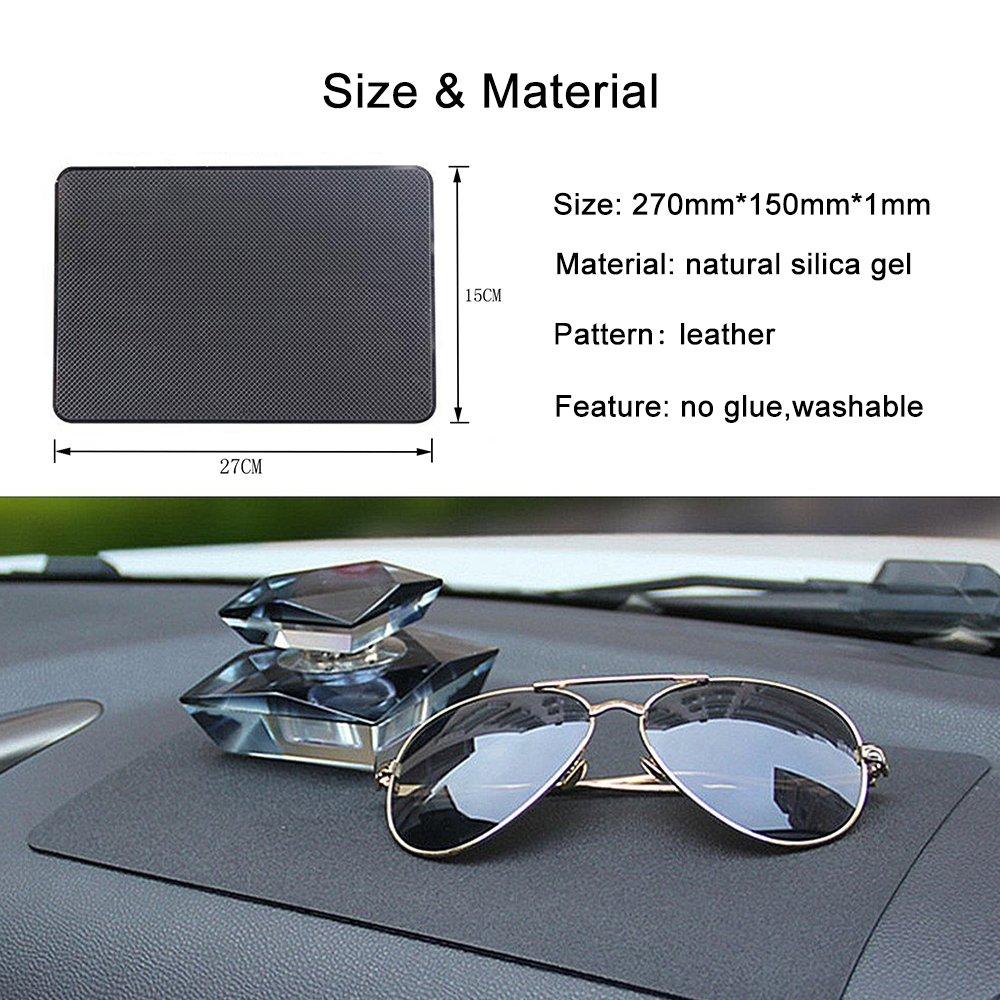 XFAY 27/×15CM Anti-Glisse en Silicone pour tenir Telephone,//voiture Anti Slip non collant Tapis de tableau de bord Dash// Support de portable GPS-HX273