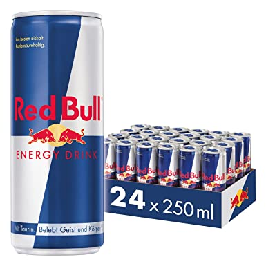 3e8beb0d4eb15 Red Bull Bebida Energética - Paquete de 24 x 250 ml - Total  6000 ml ...