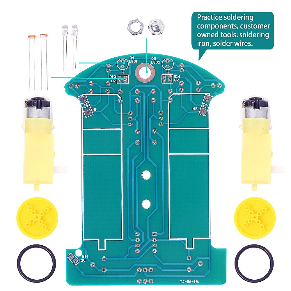 Is Icstation Smart Tracking Robot Car Diy Soldering Psc Motor Wiring Diagram Repair Manual Project Kit With Dc School Electronics Education Competition For Kids Toys Games