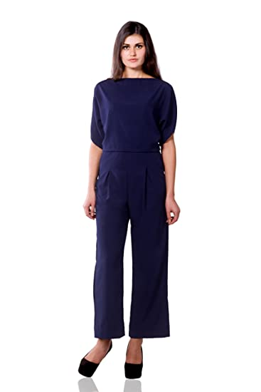 defd20d79f08 Miss Chase Women s Crepe Straight Jumpsuit (MCSS15D01-54-71 Navy X-Small)