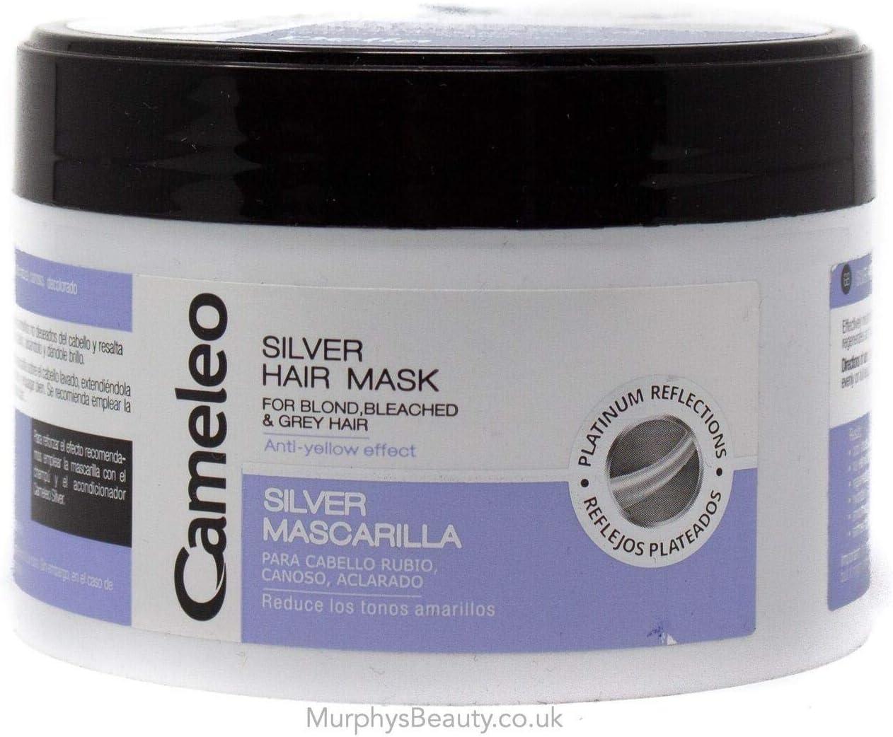 Máscara de plata para cabello de Delia, rubio blanqueado, pelo gris, anti efecto amarillo 200ml