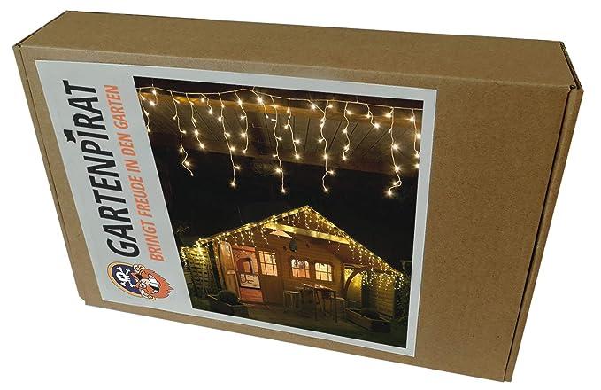 Illuminazione Esterna Natale : Led m tenda luminosa a cascata luci natale bianco caldo