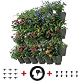 Worth Garden 36 Pockets Hanging Vertical Garden Living Wall Planter with Dripping Hose Self-watering Plant Indoor/Outdoor/Balcony/Terrace Decoration