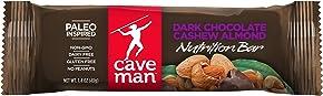 Caveman Foods Paleo-Friendly Nutrition Bar, Dark Chocolate Cashew Almond, 1.4 oz, 15 count