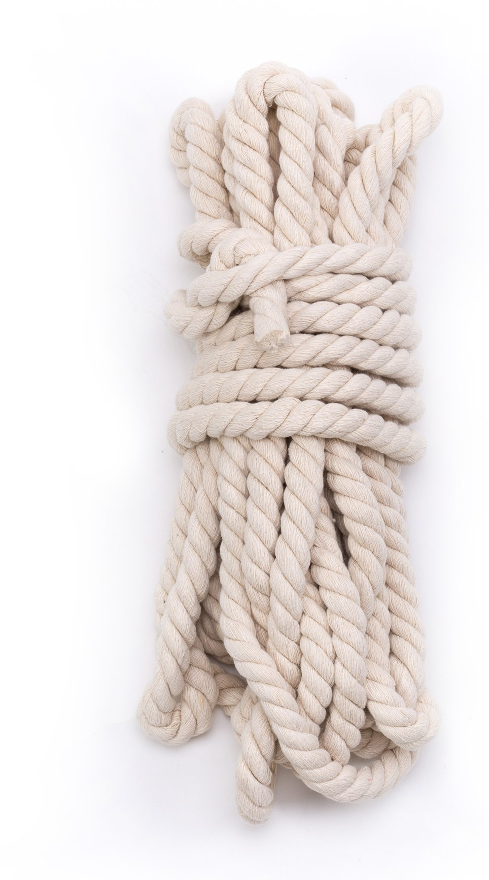 Tosnail 33 Feet 5/8'' Natural Triple-Strand Twisted Cotton Rope by Tosnail