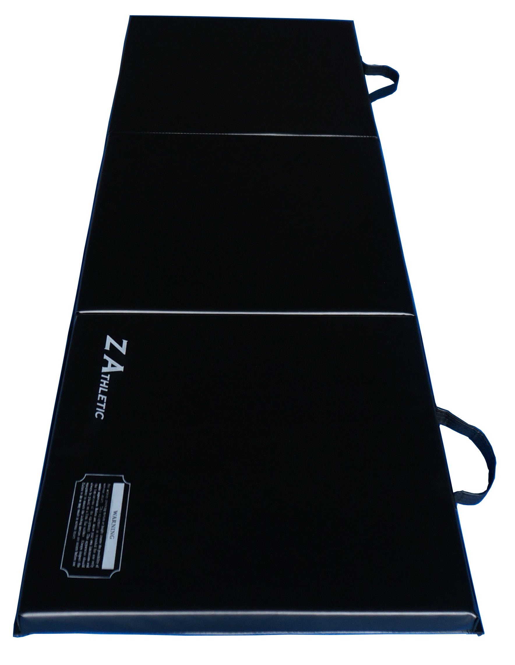 Z-Athletic Folding Panel Mats for Gymnastics, Yoga, Martial Arts, & Tumbling (2ft x 6ft x 2in, Black)