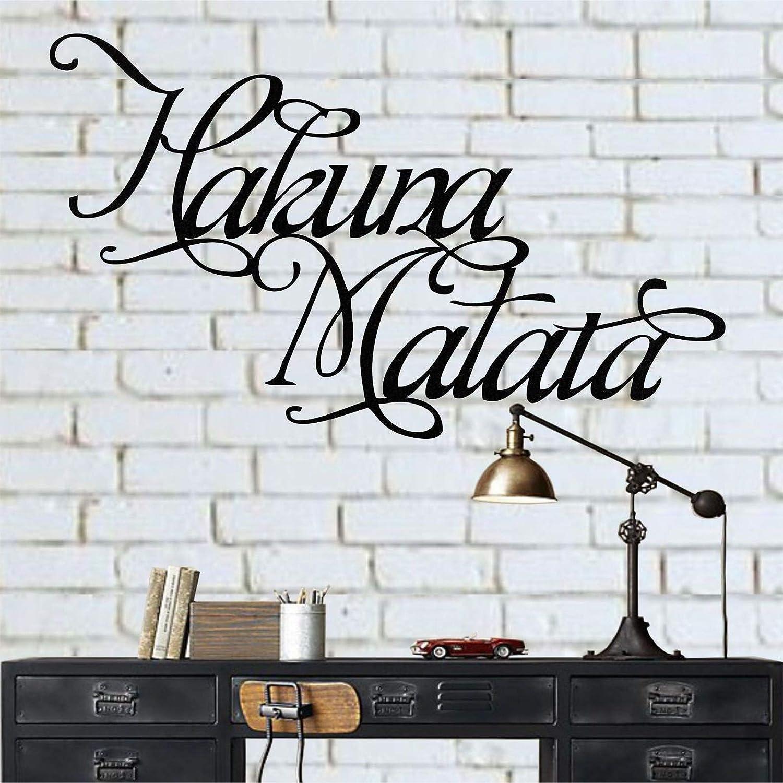 Metal Wall Art Hakuna Matata Sign Home Office Decoration Metal Wall Decor