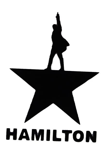Alexander hamilton vinyl decal black 75109 5 5