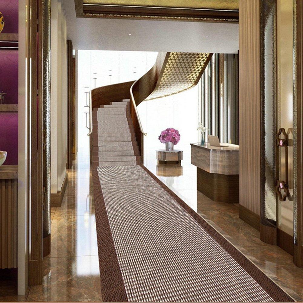 QiangDa QiangDa QiangDa Flur Teppich Läufer Langflor Teppiche Lang Gestreift Polypropylen Latexboden Rutschfestigkeit Waschbar Gang Dicke 7mm, Mehrere Größen Wahlweise (Farbe   1 , größe   0.78m x 6m) B07FCN84TK Teppiche 89a701