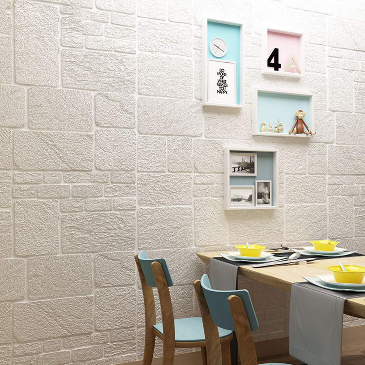 3d立体壁紙噪音防止diy壁紙 壁紙シール厚手加壁紙レンガ3d壁紙シール