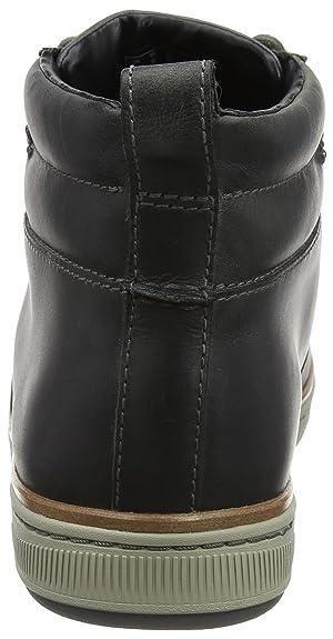 dark Leder Herren Schuhe Cut Mid Norsen Clarks grau
