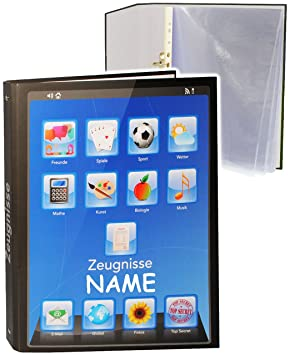 mit Einsteckseiten Name alles-meine.de GmbH A4 Ringbuch // Zeugnisringbuch f/ür Dokumente // Zeugnis // Zeugnisheft // Doku.. incl ERWEITERBAR Smartphone // Tablet App