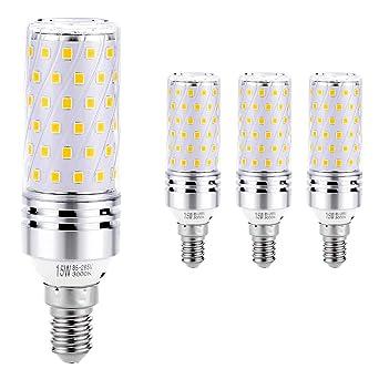 Hzsane E14 Bombilla de Maíz LED 15W, 3000K Blanco Cálido, 120W Incandescente Bombillas Equivalentes