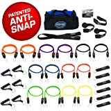 SUPER HEAVY 31 PCS PREMIUM Resistance Bands Set by Bodylastics. Includes 14 Best Quality ANTI-SNAP bands, heavy Duty Components: Anchors/Handles/Ankle Straps, and exercise training resources.