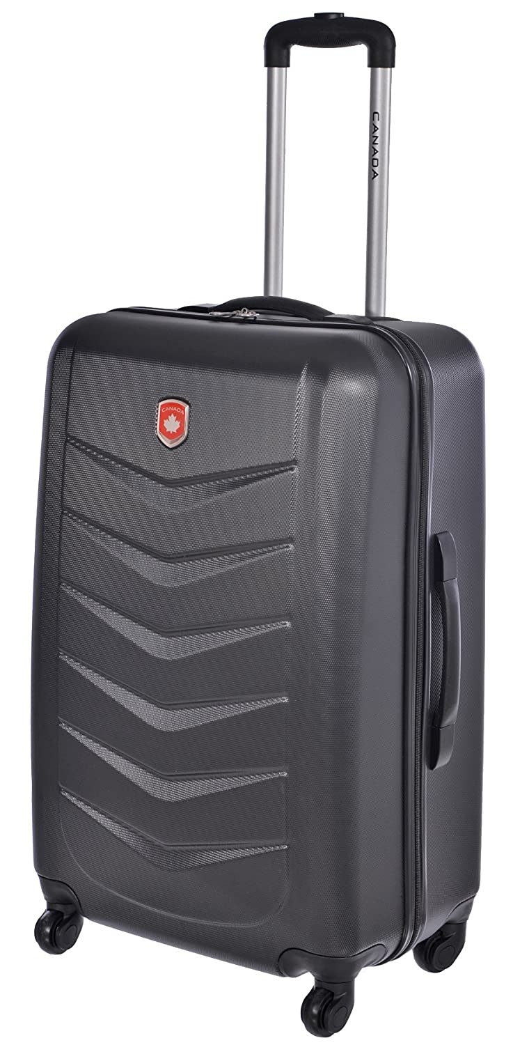Amazon.com | Canada Black Lightweight Hard Side Wheeled Suitcase 2 ...