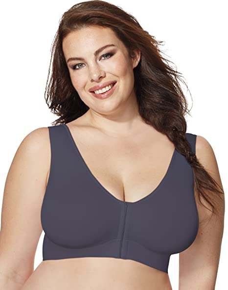 1755192d15a Image Unavailable. Image not available for. Color  Just My Size Women s  Pure Comfort Front-Close Wirefree Bra ...
