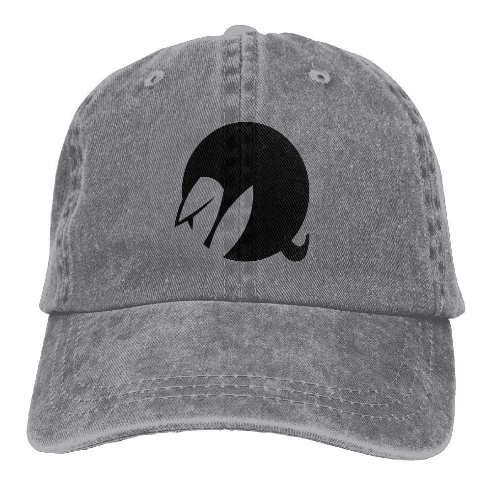 Q White Rabbit AwarenessClassicDenim Cap Adult Unisex Adjustable Hat