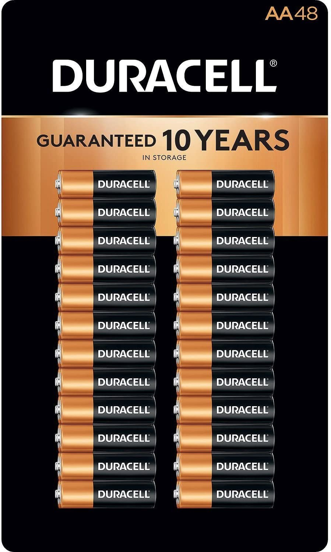 48 pk Duracell Coppertop Alkaline Batteries AA