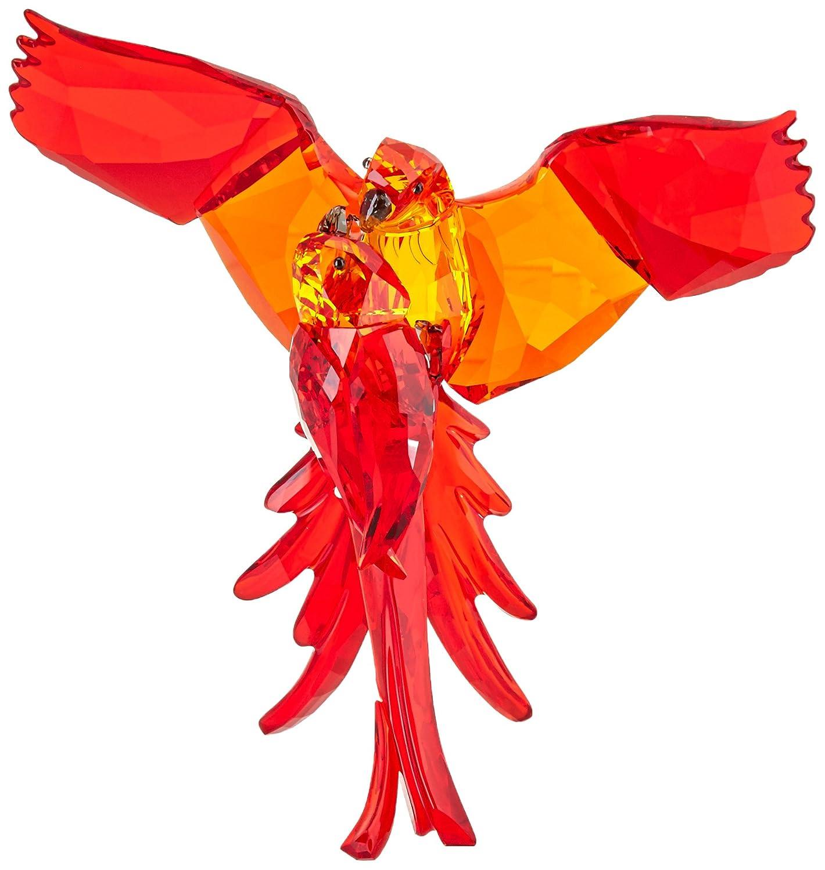 Swarovski Figurine, Parrots, Red
