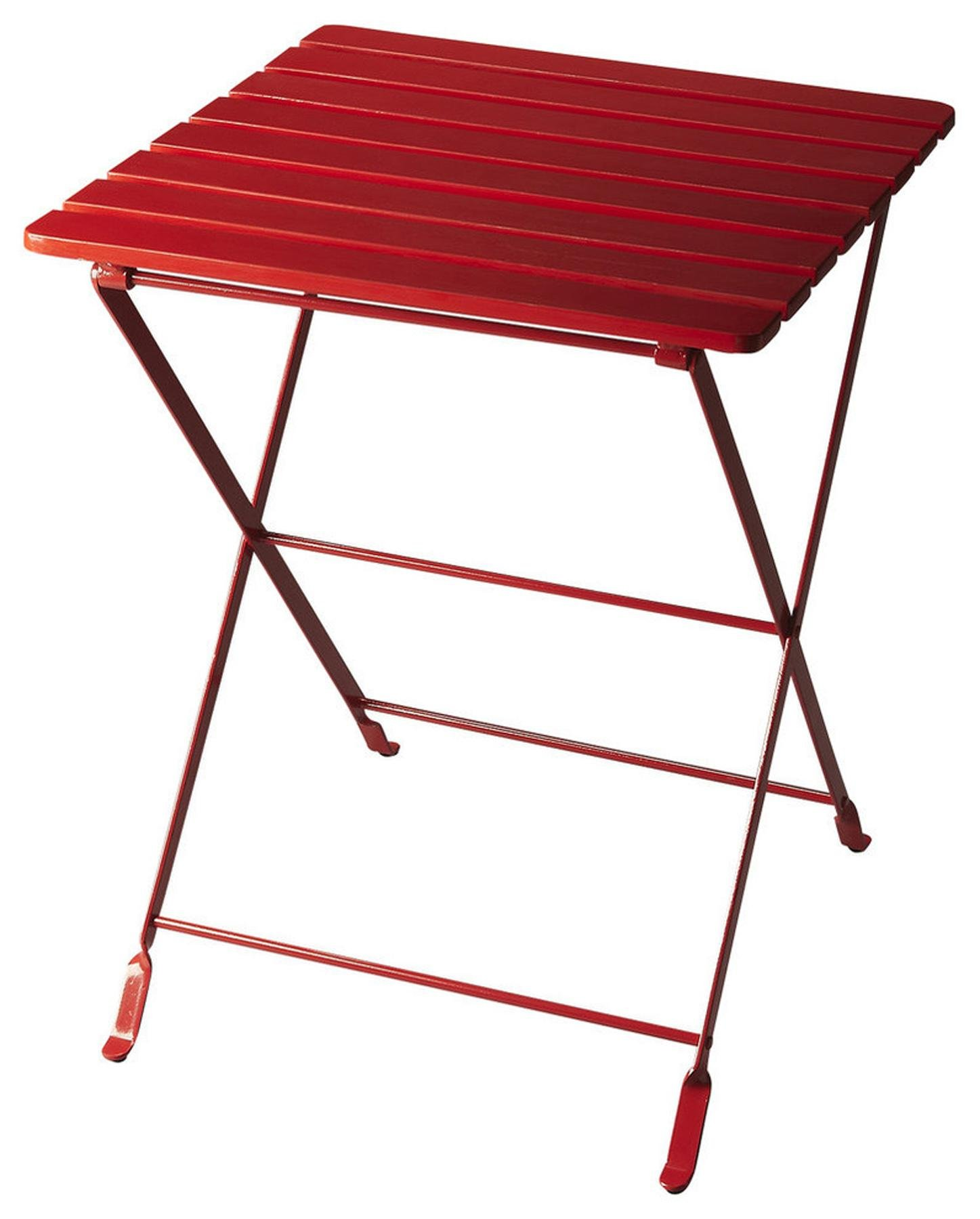 Butler Specialty Company 4277293 Folding Side Table Bailey, Red