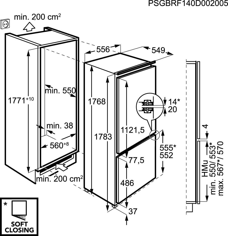 AEG SCZ71800F1 Integrado 163L A+ Blanco nevera y congelador ...