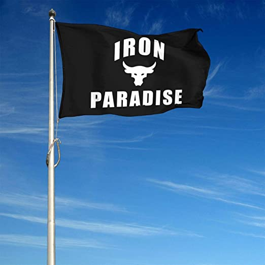 4x6 Feet Ideal Perfect for Outdoor Flags SUFENG Iron Paradise Garden Banner Flag Durability and Resistance to Fading