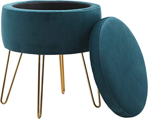 Sophia William Round Storage Ottoman Footrest Stool