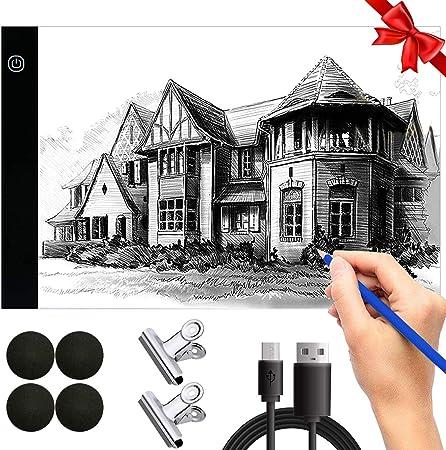 A4 Led Ligero Caja Dibujo Caja de luz artista Ligero Trazador Mesa ...