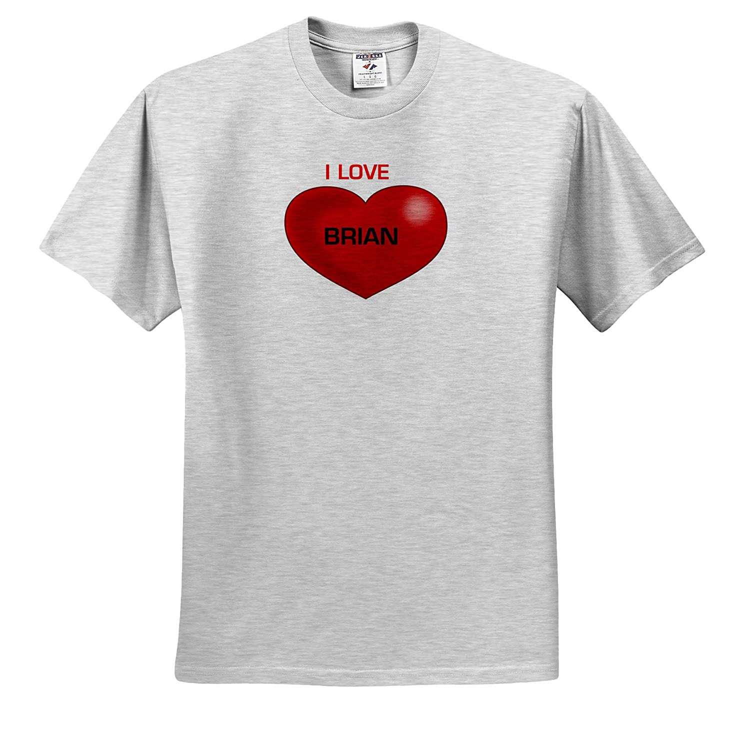 Love Hearts with Names T-Shirts 3dRose Lens Art by Florene Image of I Love Brian On Big Red Heart