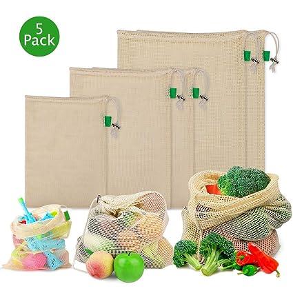 10 X Wiederverwendbare Obstbeutel Gemüsebeutel Einkaufstasche Gemüsenetz Set