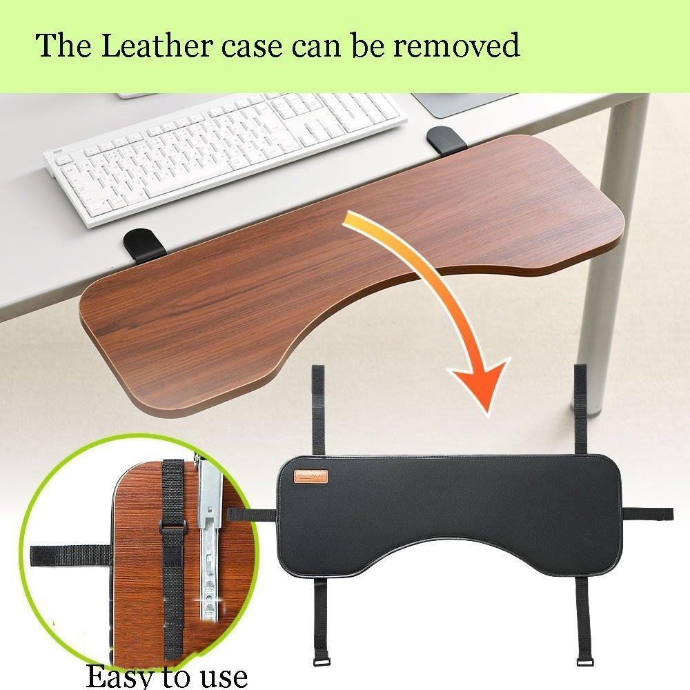 supporto da polso con tappetino per mouse YANGHX da mettere sotto la scrivania supporto ergonomico per tastiera estensione per piccole scrivanie