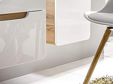 BIM Furniture Aruba 821 - Armario de baño con lavabo colgante CFP80D (80 cm, armario colgador bajo el fregadero, con fregadero), color blanco: Amazon.es: Hogar
