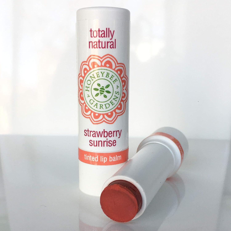 Honeybee Gardens Tinted Lip Balm (Strawberry Sunrise) | Organic, Vegan, Gluten Free