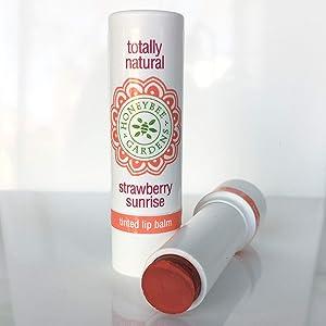 Honeybee Gardens Tinted Lip Balm (Strawberry Sunrise)   Organic, Vegan, Gluten Free
