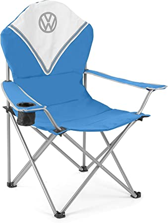 Volkswagen Folding Moon Camping Chair Padded and Official Camper Van Design