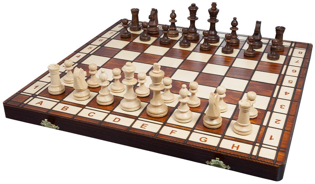 Albatros 2478 - Gioco scacchi di legno CASTILLA 42 x 42 cm [importato dalla Germania]
