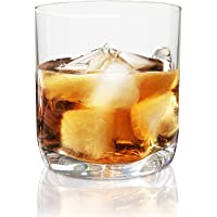Vivocci Unbreakable 100% Tritan Plastic Rocks Whiskey & Old Fashioned Bar Glasses 12.5 oz | Thumb Indent Glassware | Unique Barware & Drinkware | Ideal for Cognac & Scotch | Dishwasher Safe |