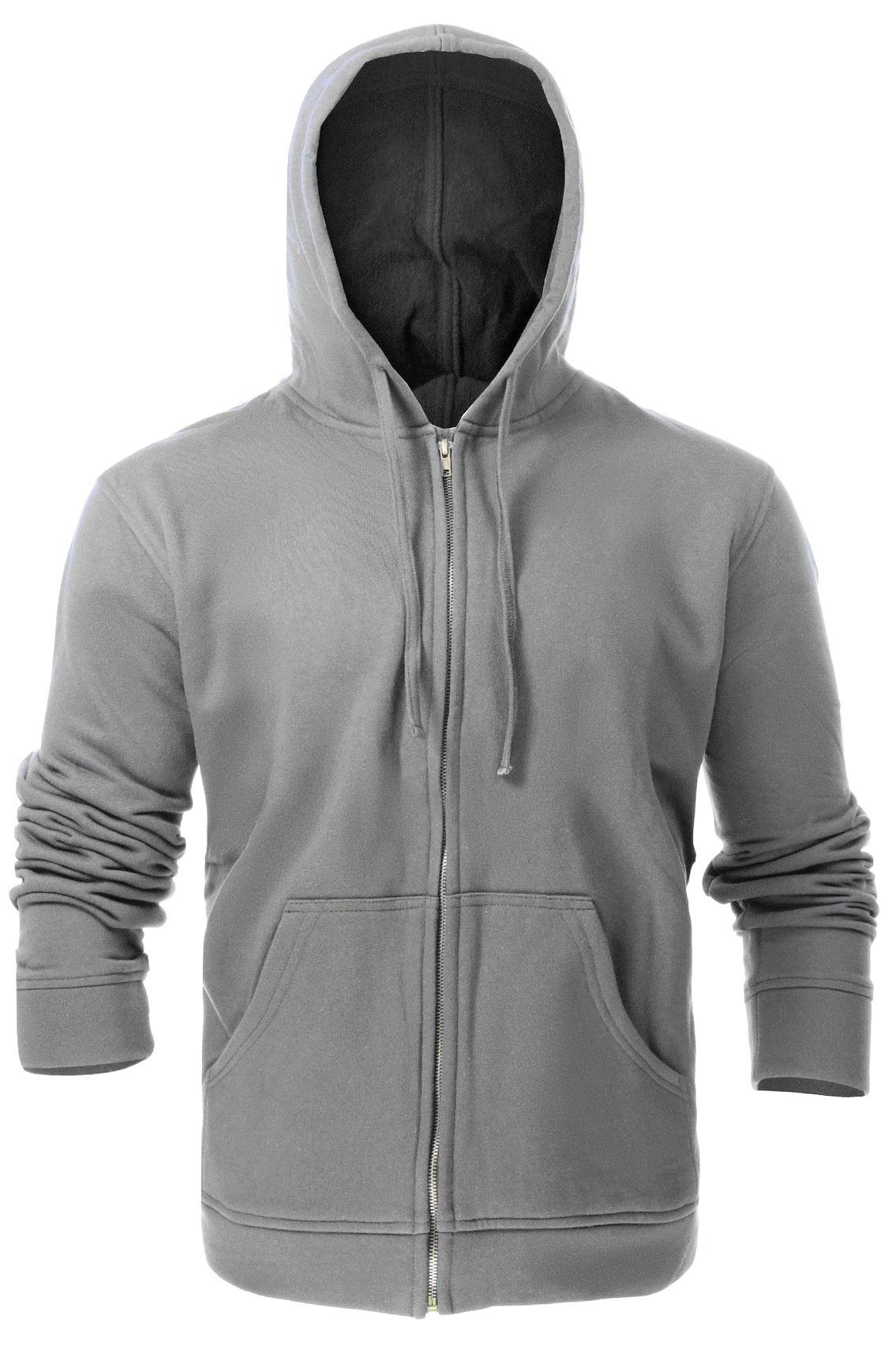 Flame Resistant FR Fleece Hoodies - 100% C - Heavy Weight (X-Large, Light Grey) by Just In Trend