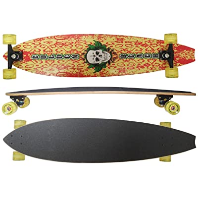 "MAXOfit Deluxe Longboard Hell Fire No.08"", 106 cm, 9 couches d érable, (or-19008)"