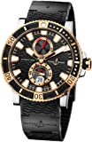 New Mens Ulysse Nardin 18k Rose Gold Maxi Marine Diver Titanium Watch 265-90-3C/92