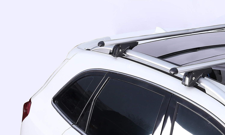 Barres de Toit VDPLION1 Compatible avec Peugeot 2008 5 Portes /à partir de 13 VDPMAA320 Coffre de Toit verrouillable Blanc 320 l