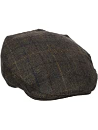 Henschel Mens Wool Blend Plaid Ivy Hat with Quilt Lining Newsboy Cap