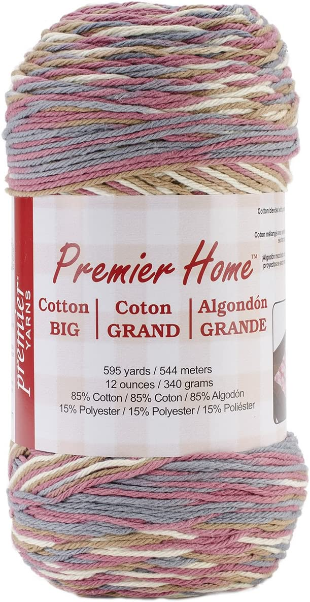 Premier Yarns Home Cotton Grande Yarn, Multi-Rosy Cheeks