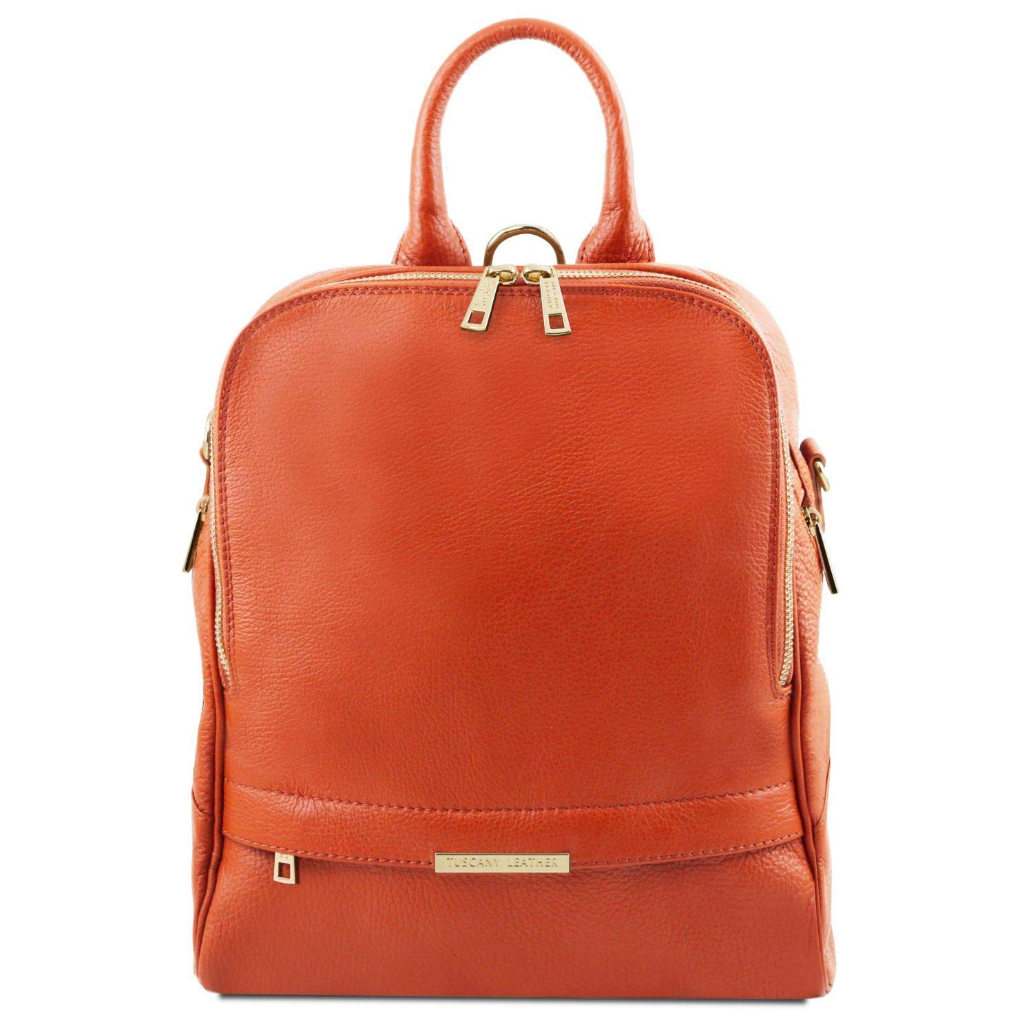 Tuscany Leather TLBag Soft leather backpack for women Brandy