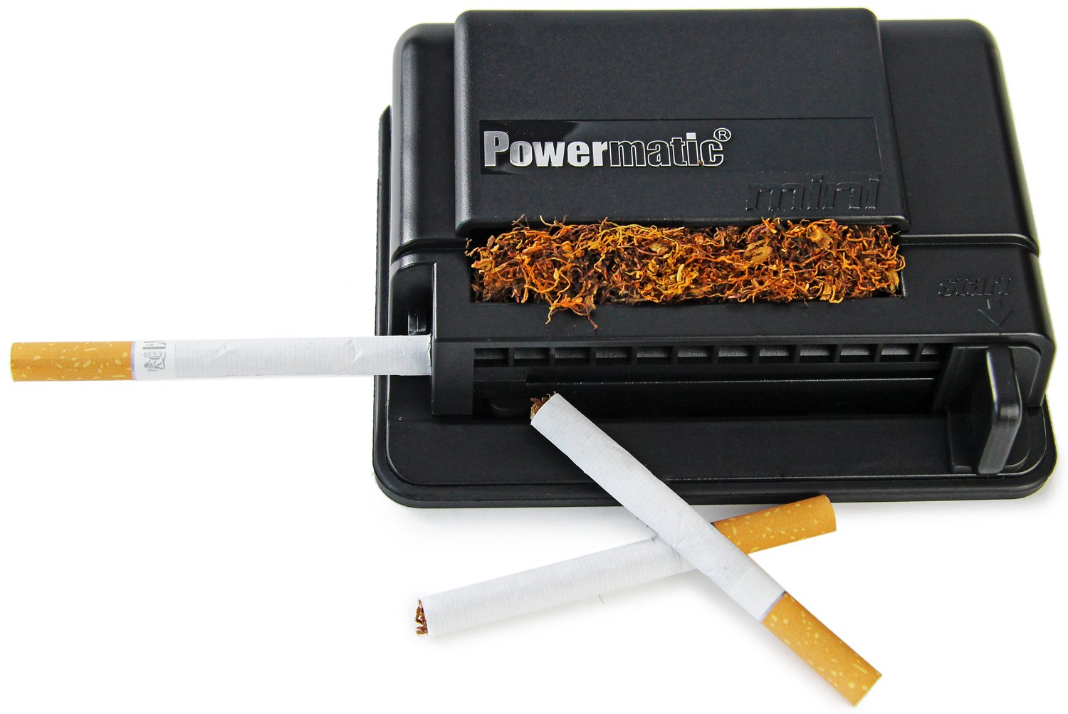 MM  Power Matic Mini – Máquina para liar cigarrillos encendedor de olla de máquina