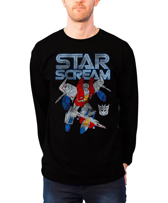 Transformers Sweatshirt Starscream Distressed new Official Mens Black